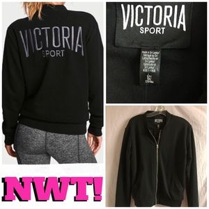 SALE❣️NWT-VS FRENCH TERRY BOMBER JACKET